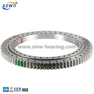 Light precision slewing ring bearing with external gear for excavator