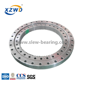 Four-point Contact Ball Bearing with Deformable Swing Bearing for Excavator