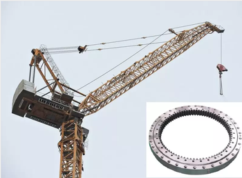 How to maintain slewing bearing for tower crane?