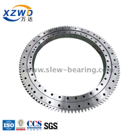 External gear four point angular contact ball bearing for medium duty crane