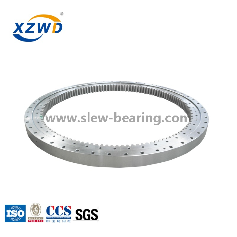 CCS Certified Single Row Four Point Contact Ball Slewing Bearing with Internal Gear for Construction Machines