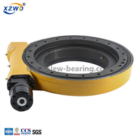 WEA14-86-BH-R enclosed slewing drive with 24V DC electric motor and 50CC hydraulic motor