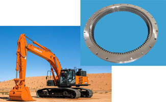 Excavator Swing Bearing Seal Replacement
