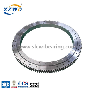 single row ball slewing ring bearing with External gear for deck crane