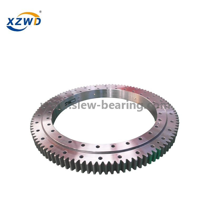 Four Point Angular Contact Ball Slewing Bearing with Cage for Heavy Rotating Equipment